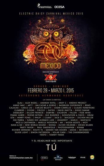 EDCMEX2015_Lineup