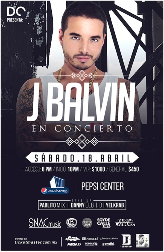 J Balvin Poster Pepsi Center
