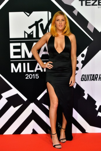 MILAN, ITALY - OCTOBER 25: Ellie Goulding attends the MTV EMA's 2015 at the Mediolanum Forum on October 25, 2015 in Milan, Italy. (Photo by Anthony Harvey/Getty Images for MTV) *** Local Caption *** Ellie Goulding